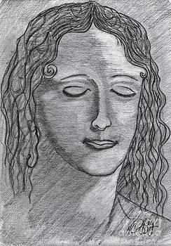 Leonardo Di Vincis Woman by Neil Stuart Coffey