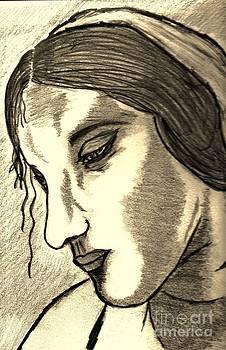 Leonardos Study Of A Woman by Neil Stuart Coffey