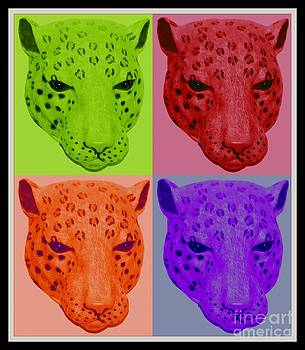 Gail Matthews - Leopard Collage in Neon