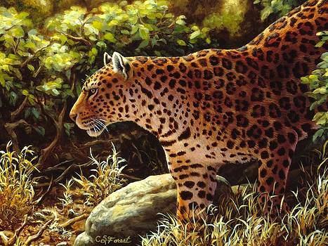 Crista Forest - Leopard Painting - On The Prowl
