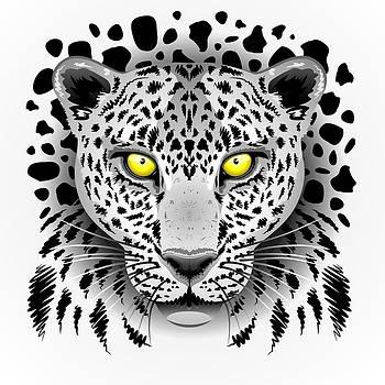 Leopard Portrait with Yellow Eyes by BluedarkArt Lem