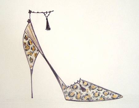 Leopard Print Shoe by Christine Corretti