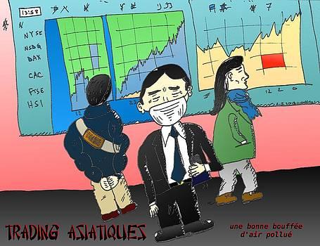 Les marches asiatiques la pollution de l'air by OptionsClick BlogArt