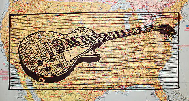 William Cauthern - Les Paul on USA Map