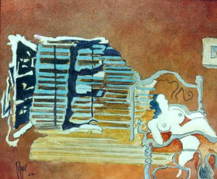Les volets clos - Original sold by Bernard RENOT