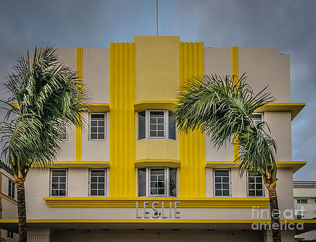 Ian Monk - Leslie Hotel South Beach Miami Art Deco Detail 3 - HDR Style