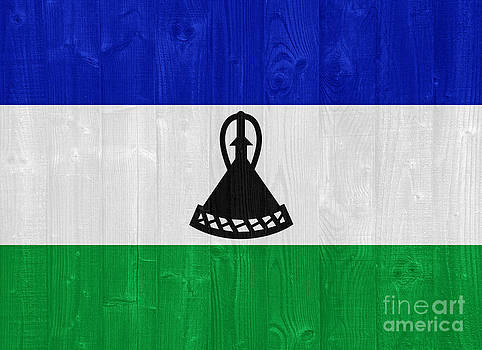Lesotho flag by Luis Alvarenga