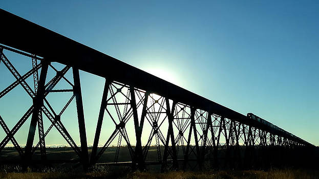 Lethbridge Viaduct Silhouette by Trever Miller
