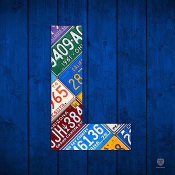 Design Turnpike - Letter L Alphabet Vintage License Plate Art