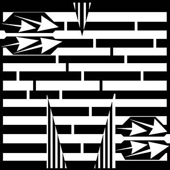 Letter M Maze by Yonatan Frimer Maze Artist
