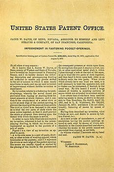 Ian Monk - Levi Strauss Jeans Patent Art 1872