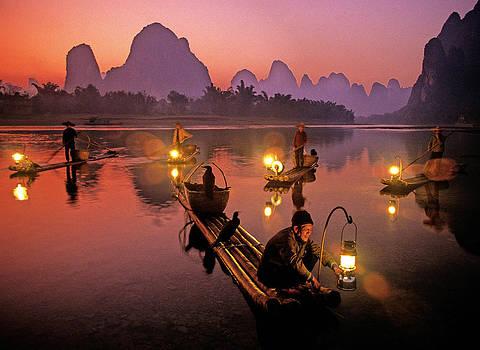 Dennis Cox - Li River lanterns