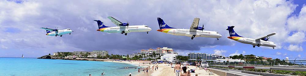 Matt Swinden - Liat Airlines landing at St. Maarten Pano