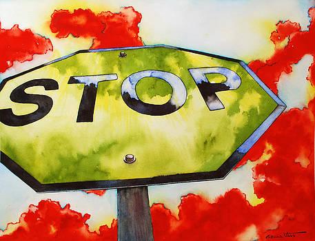 Liberating STOP sign by Zuzana Vass