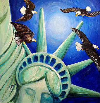 Liberty For The Eagles To Gather by Pamorama Jones