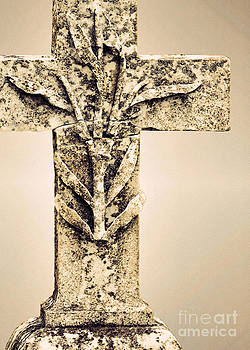 Lichen Cross Bronze by Josephine Cohn
