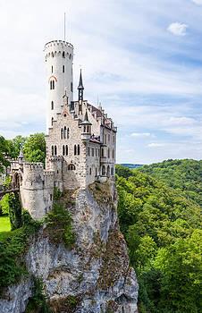 Lichtenstein castle in germany by Juhani Viitanen