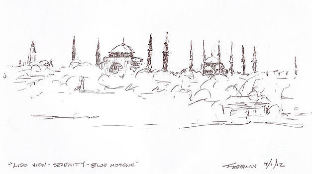 Valerie Freeman - Lido view Serenity Blue Mosque
