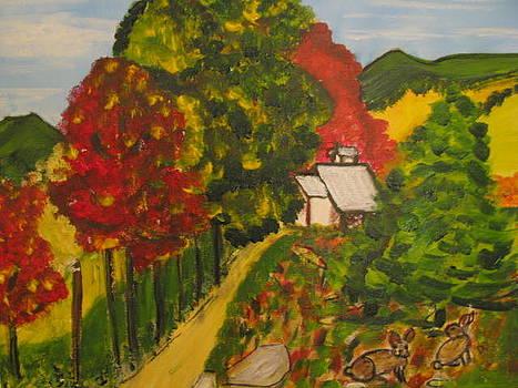 Lievres A La Cabane by Danielle Landry