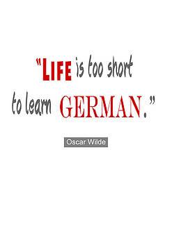 Nik Helbig - Life is too Short Oscar Wilde