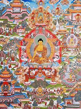 Life of Buddha Thangka Art by Ts