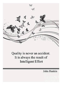Life Quotes - John Ruskin by Trilby Cole
