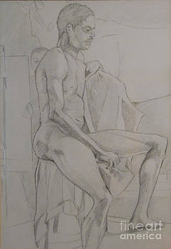 Life Study Male Ballet Dancer by Michelle Deyna-Hayward