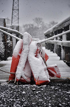 Life Vests in the Snow by Quin Bond