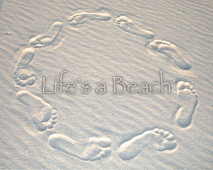 Charlie and Norma Brock - Lifes a Beach with text