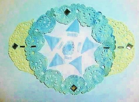 Light Blue Romantic Lace by Karen Jensen