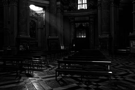Light in god's house by Michael  Bjerg