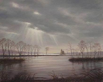 Light Over The Hudson by Barry DeBaun