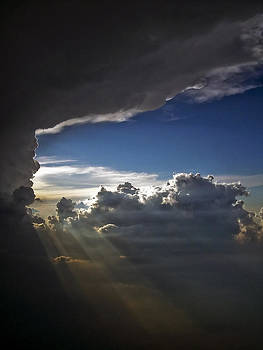 Light Shafts from Thunderstorm by Greg Reed