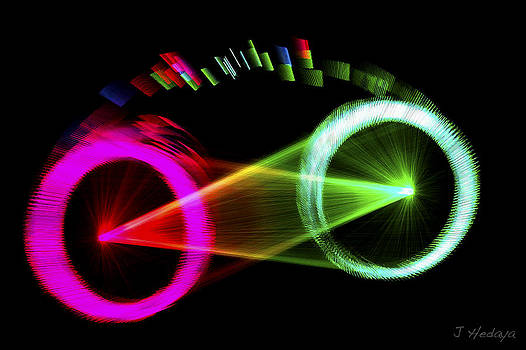 Light Show Bicycle Abstract by Joseph Hedaya