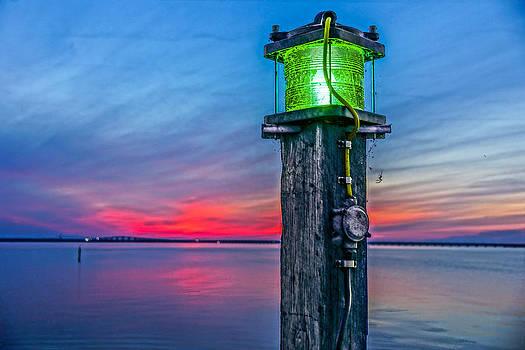 Light Tower in Evening Gloom by Alex Weinstein