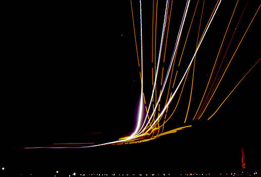 Light Trails at Washington National Airport by Greg Reed