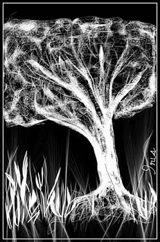 Light Tree by Mona  Bernhardt-Lorinczi