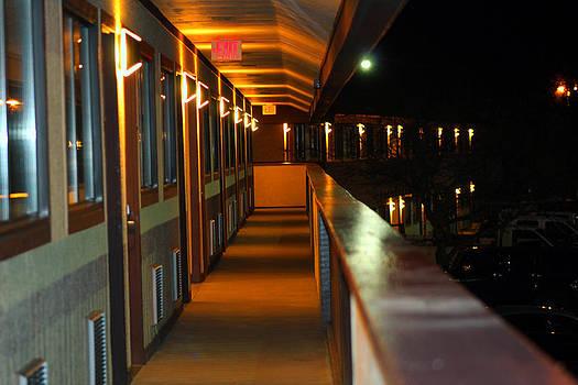 Lighted Balcony by Carolyn Ricks