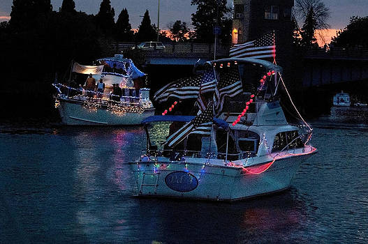 Lighted Boat Parade by Cheryl Cencich
