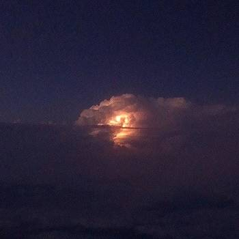 Lightening In The Clouds From My Flight by Jedi Fuser