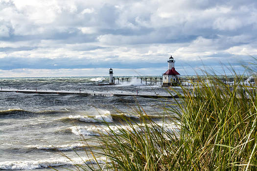 Lighthouses and Grasses by Gej Jones