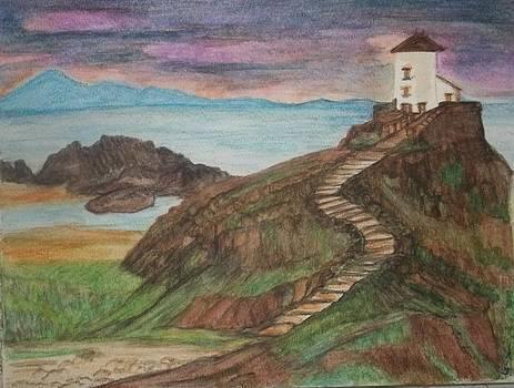 Lighthouse at LLanddwyn Island Wales UK by Iris Devadason