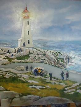 Luz Perez - Lighthouse at Peggys Cove
