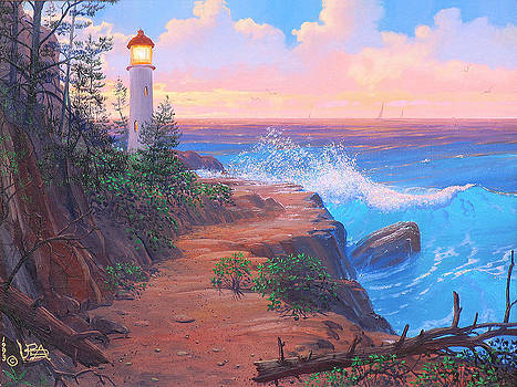 Lighthouse Cove by Loren Adams