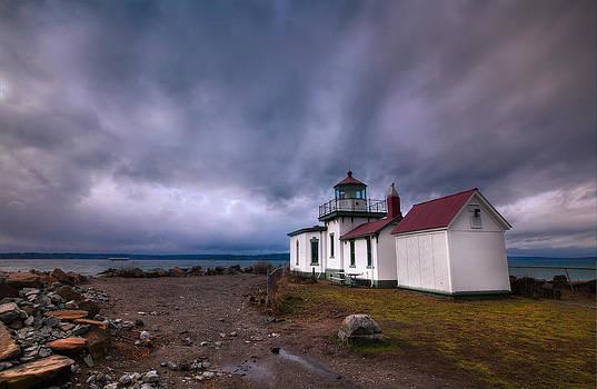 Lighthouse Drama by Anthony J Wright