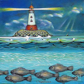 Lighthouse Fish 030414 by Selena Boron