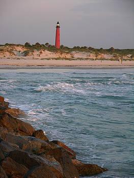 Lighthouse from the jetty 2 by Julianne Felton