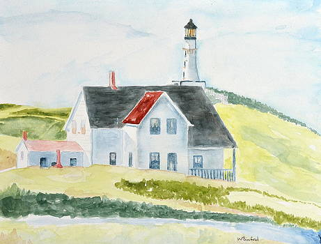 Lighthouse in Maine by Wade Binford
