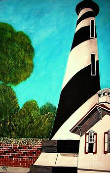 Lighthouse In San Augustine by Iris  Mora