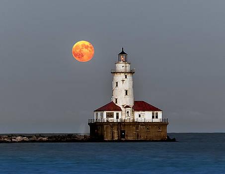 Lighthouse Moon by John Harrison